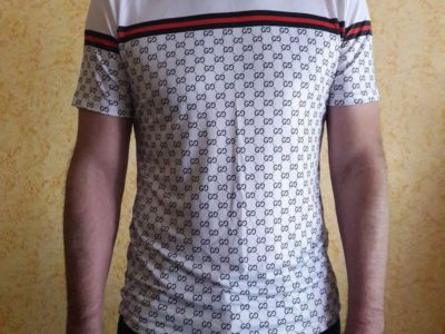 Футболка стиль GUCCI в обтяжку тенниска рубашка новая lacoste polo burberry Киев