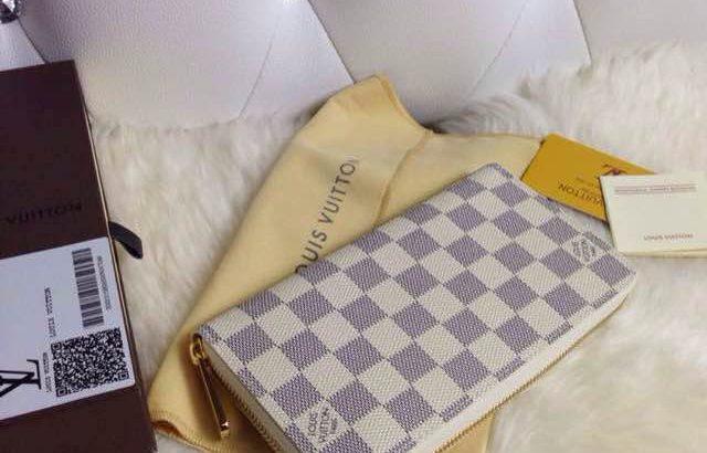 LOUIS VUITTON кошелек Киев Украина клатч портмоне LV N60015 шахматка белый