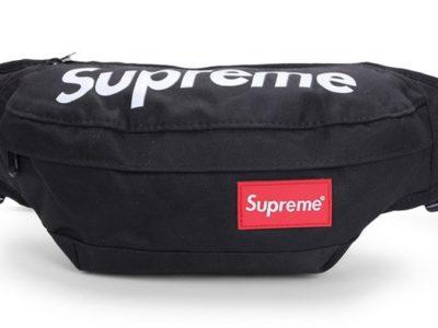 SUPREME сумка на пояс бананка через плечо косметичка черная