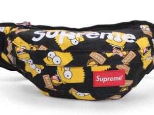 SUPREME сумка на пояс бананка через плечо косметичка Симпсон