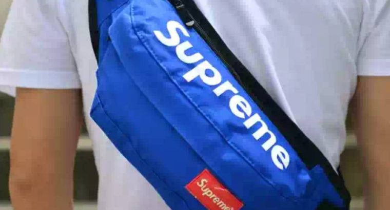 SUPREME сумка на пояс Киев Украина бананка через плечо косметичка барыжка синяя
