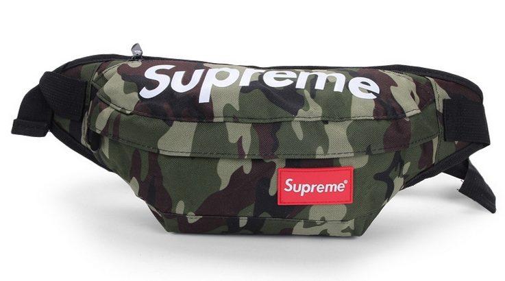 SUPREME сумка на пояс бананка через плечо косметичка (цвет: камуфляж)