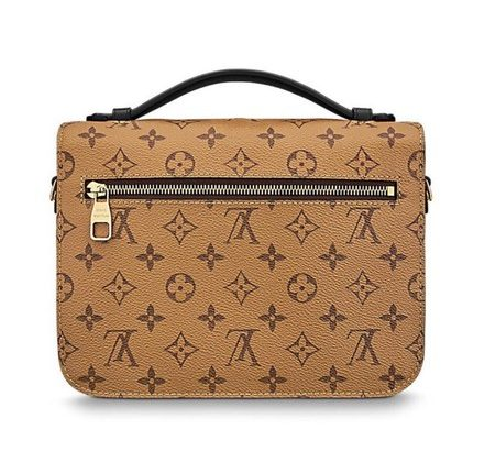 LOUIS VUITTON Pochette Metis Reverse M41465 Brown Canvas Cross Body