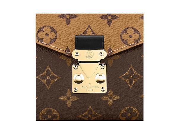 LOUIS VUITTON Pochette Metis Reverse M41465 Brown Canvas Cross Body