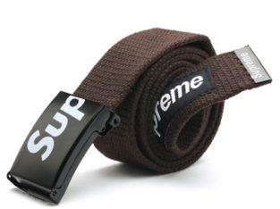 SUPREME американский бренд ремень НОВЫЙ цвет: коричневый