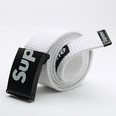 SUPREME американский бренд ремень НОВЫЙ цвет: белый