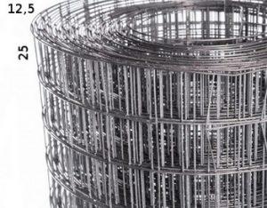 Сетка сварная оцинкованная 12х12х0.5мм