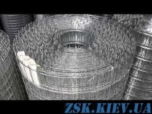 Сетка сварная оцинкованная 50х50х1.8мм