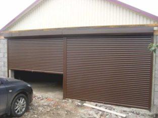 Установка роллетных гаражных ворот