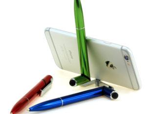 Ручка-стилус-подставка под смартфон 3в1