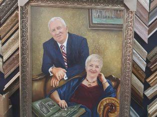 Картина по фотографии, семейный портрет, качественно, опыт 10 лет