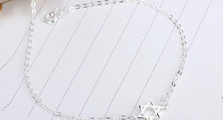 Женский браслет подвеска звезда Давида кулон медальон серебро цепочка Киев Украина