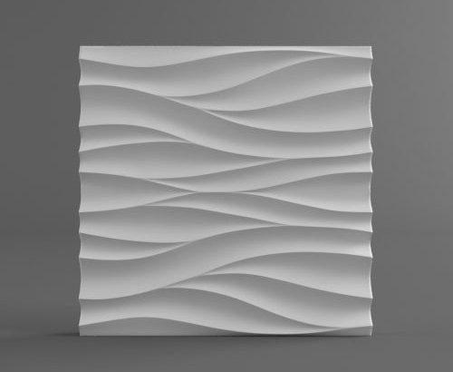 Декоративная 3D панель «Волна». 69 грн за штуку.