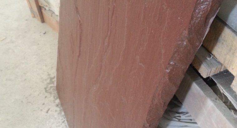 Надежная, импортная каменная плита 900*600*30 мм, сочный темно — коричневый цвет