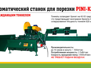 Автоматический станок для порезки брикета Pini-Kay. Торцовка