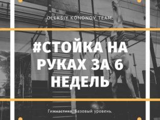 Стойка на руках за 6 недель от Алексея Кононова