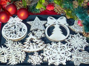 Оригинальный эко-набор ёлочных игрушек / новогодний подарок
