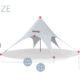 Палатка для пляжа, мероприятия, дачи, выставки Звезда-10