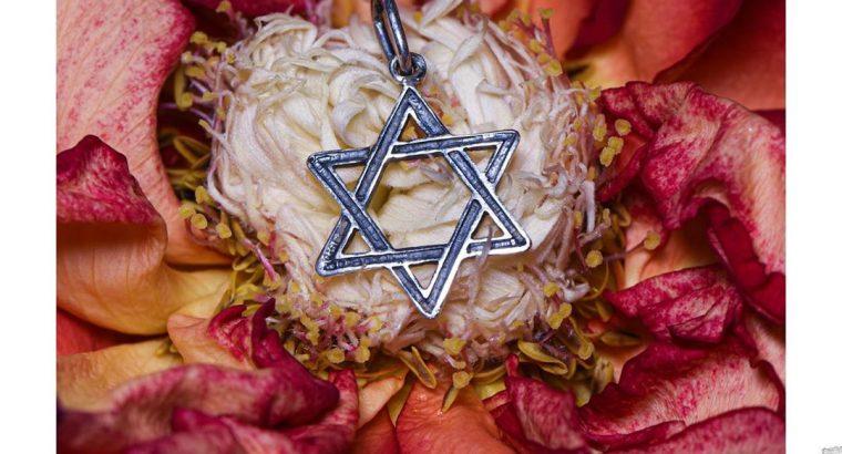 Срібний кулон ✡ «Зірка Давида»