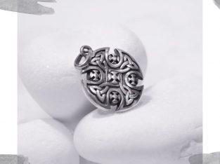 Срібний кулон – талісман « Байкерський хрест»