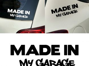 Наклейка на авто Made in my garage Чёрная
