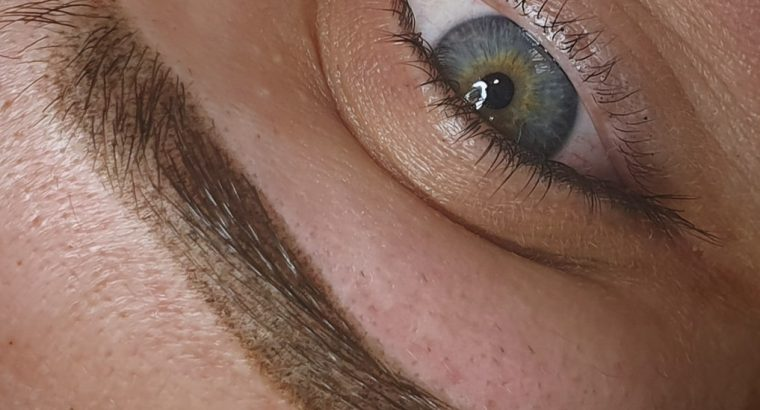 Пудровые брови, акварельные губы, межресничка
