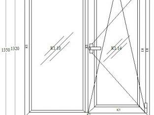 Окно металлопластиковое REHAU 60 (от производителя)