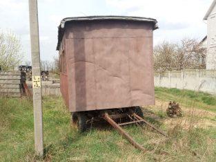 Бытовка, вагончик передвижной на колесах, жесткая сцепка