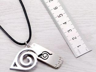 Кулон и жетон с символом аниме Наруто