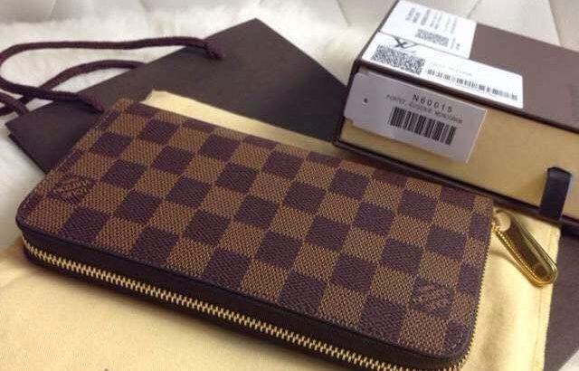 LOUIS VUITTON кошелек Киев Украина клатч портмоне LV N60015 шахматка коричневый