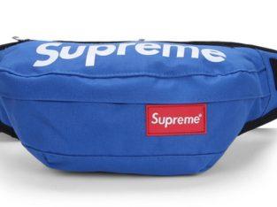 SUPREME сумка на пояс бананка через плечо косметичка (цвет: синий)