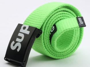 SUPREME американский бренд ремень НОВЫЙ цвет: зеленый