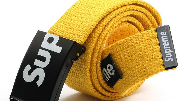 SUPREME американский бренд ремень НОВЫЙ цвет: желтый