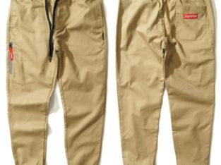 SUPREME джоггеры штаны брюки Jogger Pants чиносы на шнурке бежевый