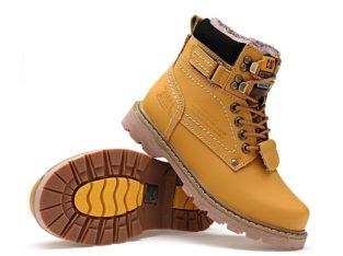 CAT CATERPILLAR Киев Украина ботинки на меху зима timberland обувь желтые
