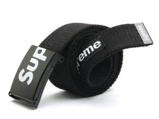 SUPREME американский бренд ремень НОВЫЙ цвет: черный