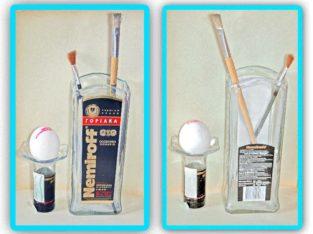 Резка стеклянных бутылок и керамики.