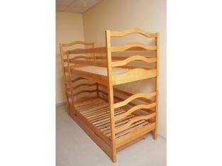 София двухъярусная кровать с ящиками и матрасами.