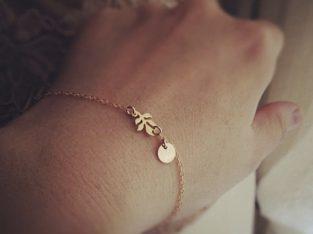 Изысканный женский браслет для подарка две подвески кулон медальон цепочка Киев Украина