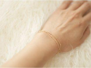 Двойной женский браслет цепочка золото на подарок серебро Киев Украина