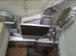 Монтаж вентиляции. Рекуператоры с канальными кондиционерами и т.п.