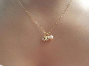 Ожерелье колье намисто подвеска цепочка кулон медальон амулет оберег уникальный подарок золото серебро ланцюжок личная буква жемчуг жемчужина