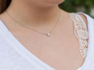 Грациозное ожерелье колье намисто подвеска цепочка кулон медальон амулет оберег уникальный подарок серебро ланцюжок личная буква