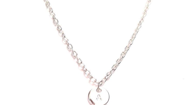 Ожерелье колье намисто подвеска личная буква «А» алфавит цепочка кулон медальон амулет оберег уникальный подарок серебро ланцюжок