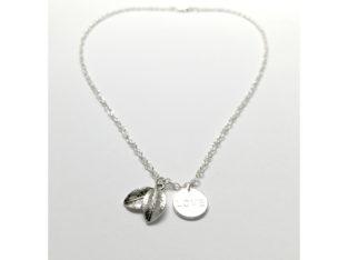 Ожерелье колье намисто подвеска цепочка кулон медальон Love Любовь амулет оберег листья для подарка серебро ланцюжок