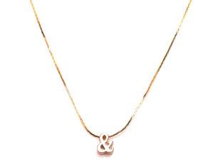 Ожерелье колье намисто подвеска цепочка кулон медальон амулет оберег уникальный подарок золото ланцюжок личная буква & (Амперсанд)