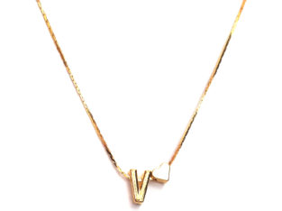Ожерелье колье намисто подвеска цепочка кулон медальон амулет оберег сердце уникальный подарок золото ланцюжок личная буква