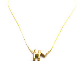 Ожерелье колье намисто подвеска цепочка кулон медальон амулет оберег сердце уникальный подарок золото ланцюжок личная буква «Н»