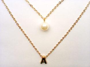 Галантное ожерелье колье намисто подвеска цепочка кулон медальон амулет оберег уникальный подарок золото ланцюжок жемчуг жемчужина личная буква серебро