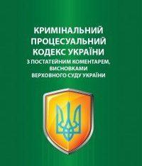 Кримінальний процесуальний кодекс України з коментарами висновками Верховного Суду